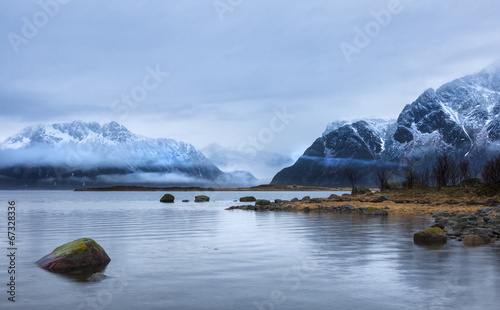 canvas print picture Küste der Lofoten, Norwegen