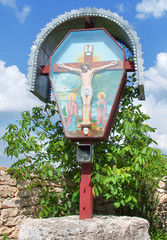 Christian Orthodox cross  in Old Orhei, Moldova