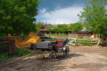 Old horse  carriage in  Moldova