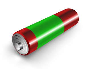 Vector 3d illustration of battery.