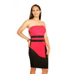 Silvester im roten Kleid