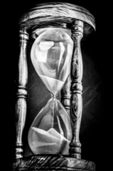 Old fashion hourglass sand timer