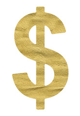 Dollar Sign made from beige paper