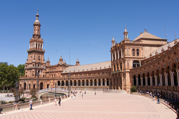 Plaza de Espana, Siviglia, Andalucia - Spagna