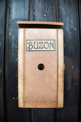 Antique Rusty Spanish Mailbox