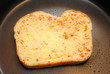 Uncooked Cinnamon French Toast in a Fry Pan