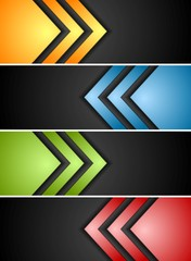 Abstract banners with arrows