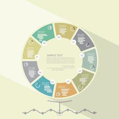 Modern infographic template, flat design