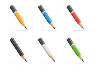 Pencils icon set