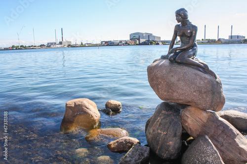 Monument of the Little Mermaid in Copenhagen, Denmark, Poster