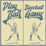 Fototapety Vintage Baseball Banners