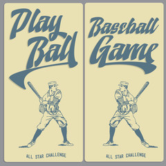 Vintage Baseball Banners