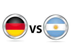 Allemagne vs Argentine. Germany vs Argentina.