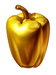 bell pepper in gold