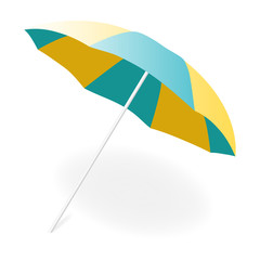 Beach umbrella, vector illustration