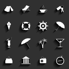 Traveling and vacation Flat icons