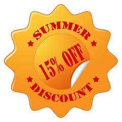Summer Discount-label