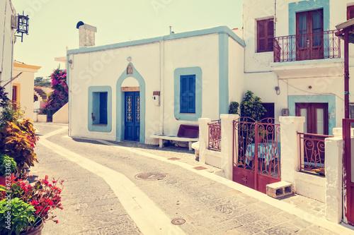 greek town, vintage look