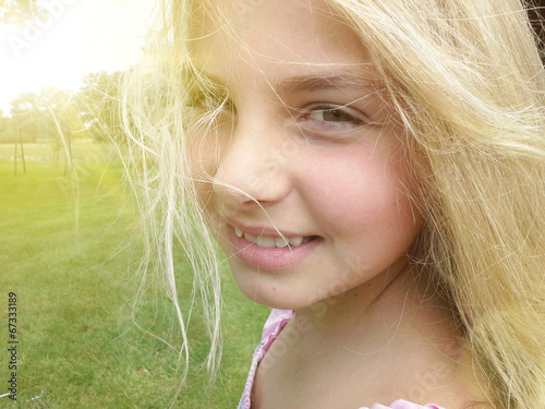 canvas print picture Portrait of a girl outdoor