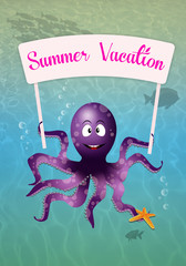 Octopus on the sea for summertime