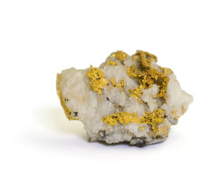 Native gold on quartz from Sonora, California. 2.6cm across.