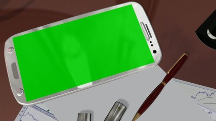 Smartphone Green Screen for Advertisement Presentation Commerce