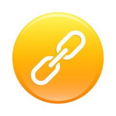 Bouton internet chaine lien icon orange web