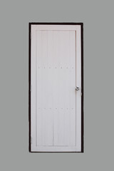 White wooden door.