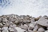 Rubble stone under blue sky