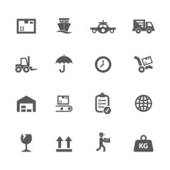 Shipping icons set.
