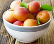 Ripe Apricots in a Bowl