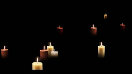 Candles buildup appear in space