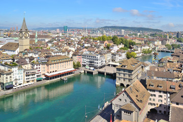 Top-view of Zurich