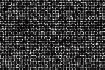 Polka dot background, black and white