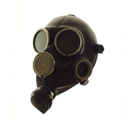 gas mask on a white background