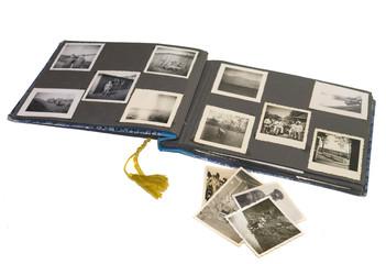 altes antikes fotoalbum, fotobuch, fotografie