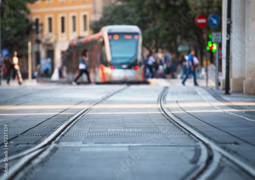 tram and rails - 67337334