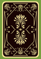 Playing card.