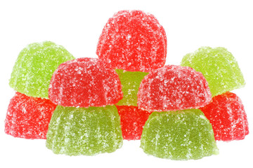 Group multicolored candy