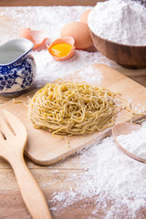 Cooking Egg Noodle