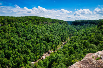 High view of Little River Canyon Federal Reserve in northern Ala