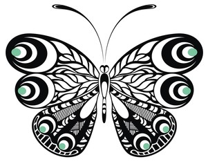 Butterfly. Tattoo design