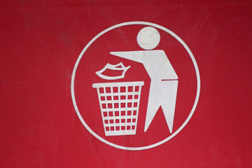 Symbol of waste disposal.