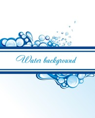 Abstract water splashes background