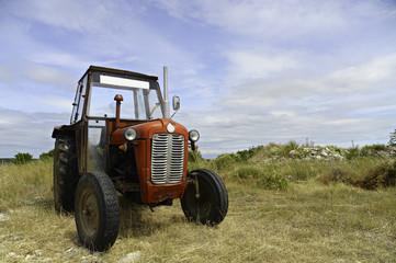 Alter Traktor im Gelände