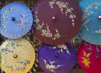 Typical Myanmar Umbrellas