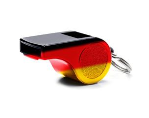 Pfeife Schwarz-rot-gold