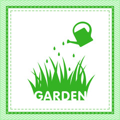 garden sign with grass