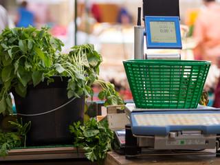 Caisse enregistreuse au marché