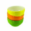 stack colorful ceramic bowls